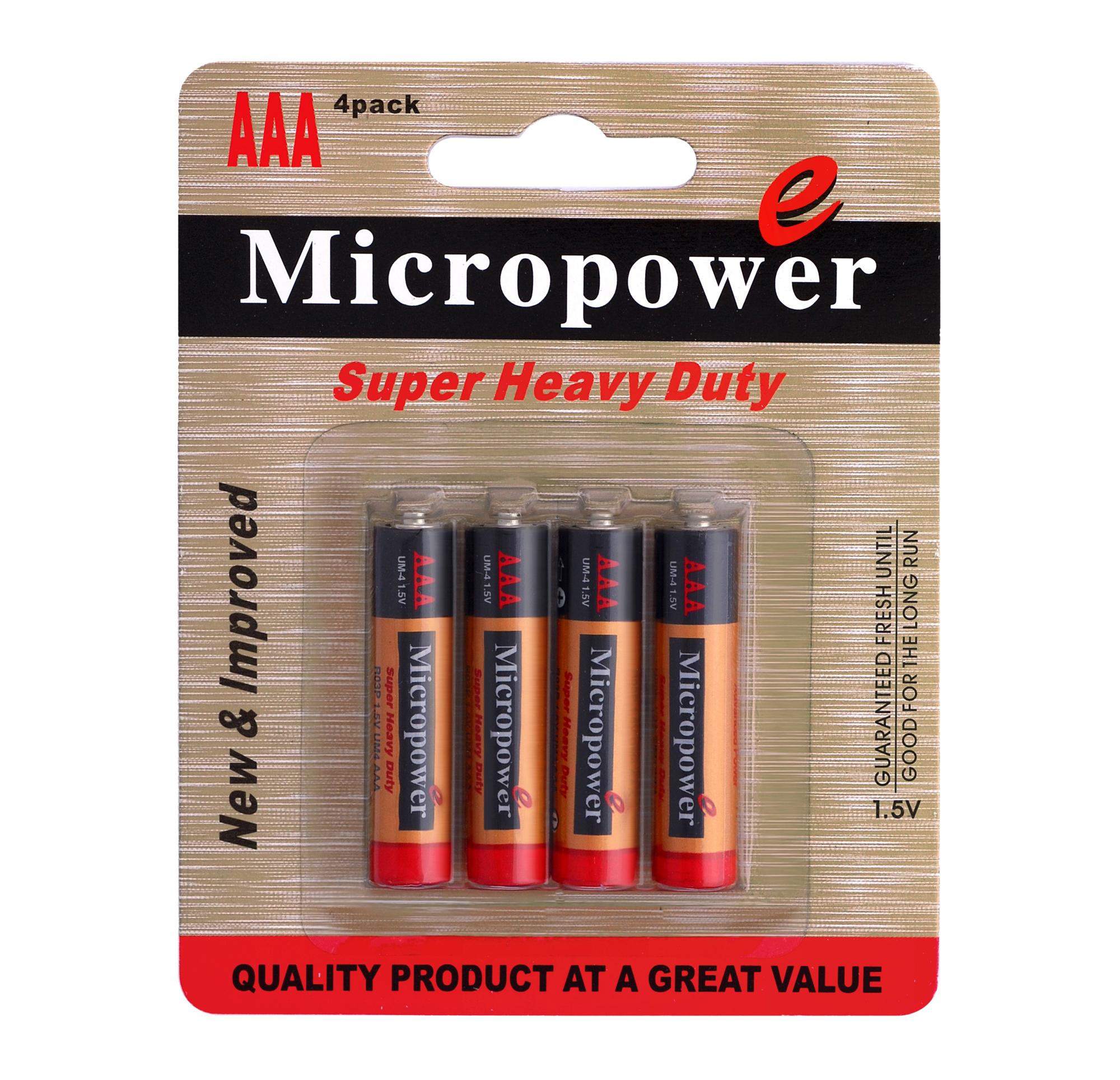 باتری کربن زینک کارت 4 تایی نیم قلمی